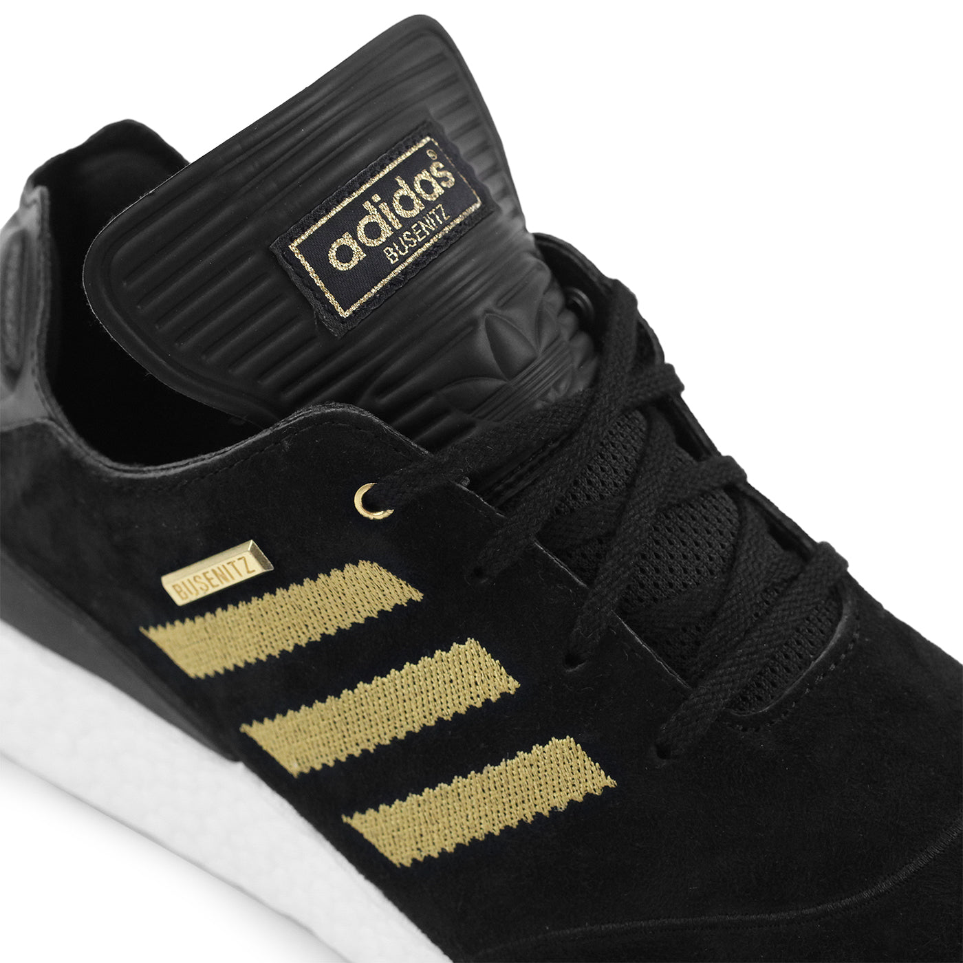 best sneakers 9ea28 4be3d Adidas Busenitz Pure Boost 10 Year Anniversary Shoe - Core Black  Gold  Metallic  White. Size Charts