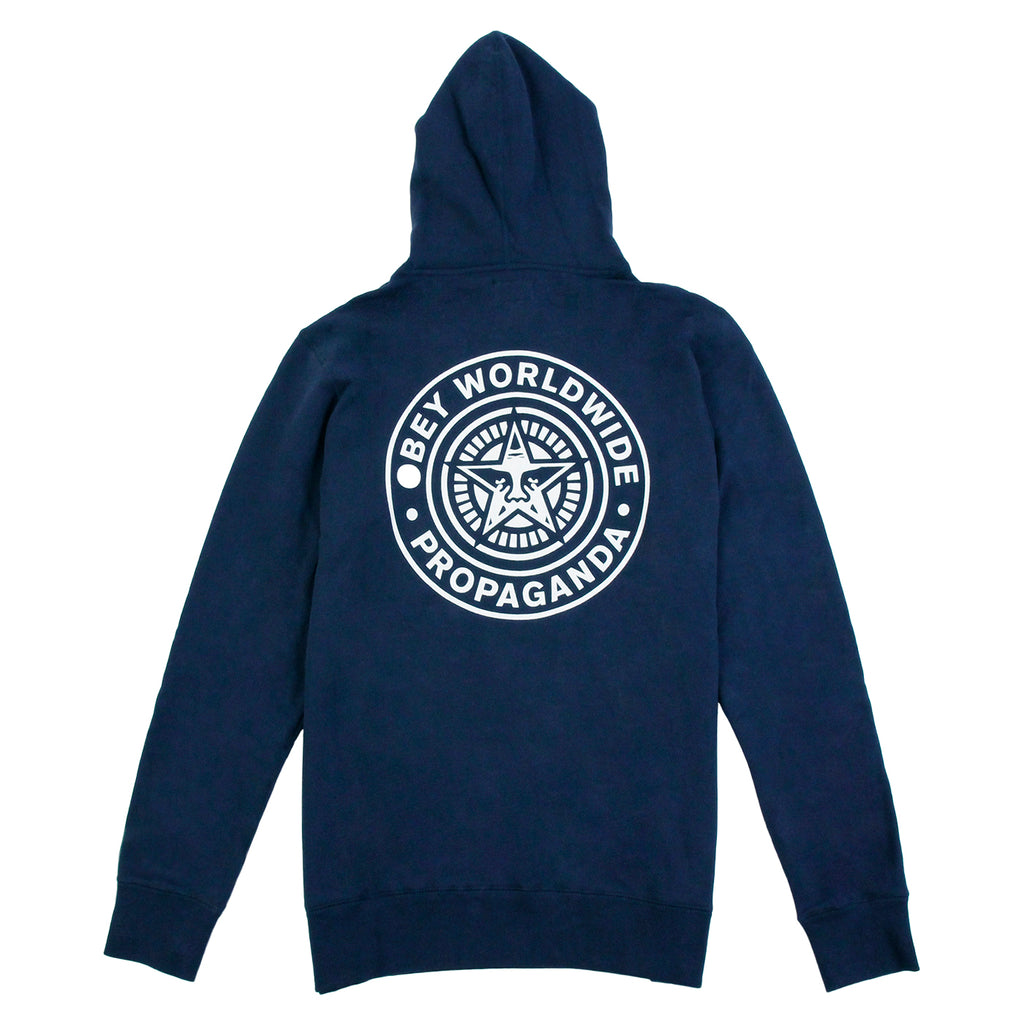 Obey Clothing Propaganda Seal Hoodie in Navy - Back