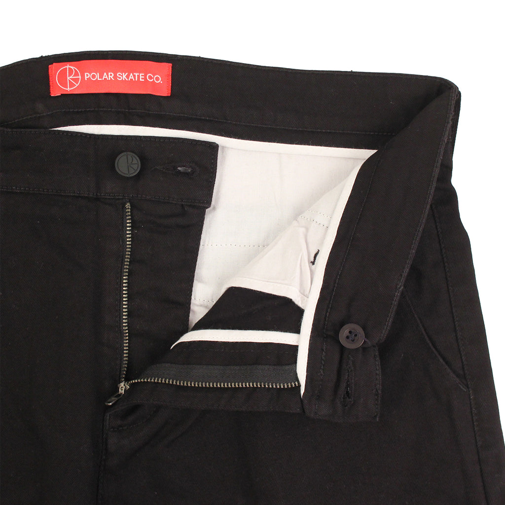 Polar Skate Co Default Chino in Black - Unzipped