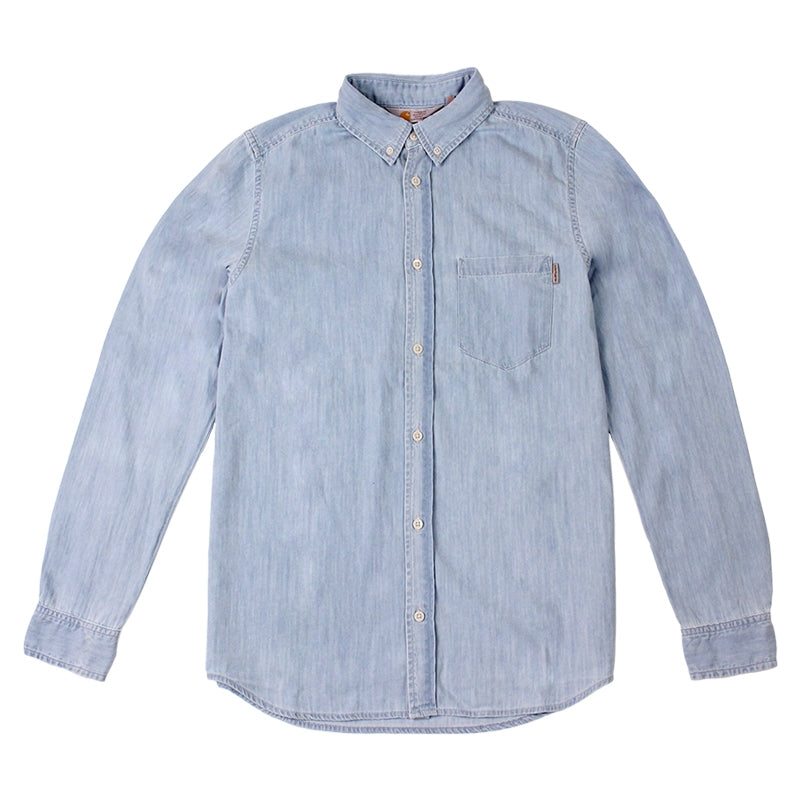 Civil L/S Shirt in Blue Stone Washed by Carhartt