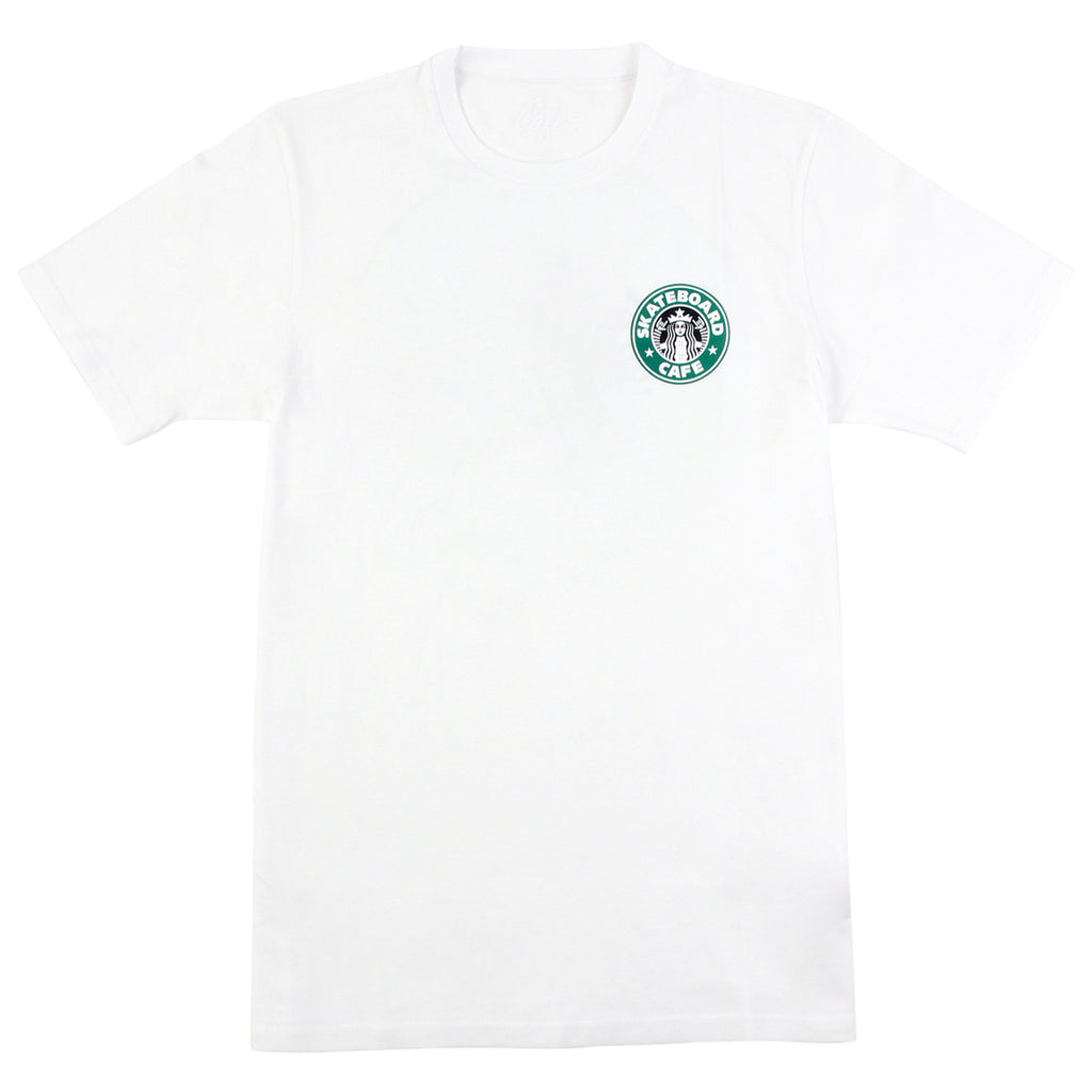 Skateboard Cafe Starf*cks T Shirt in White