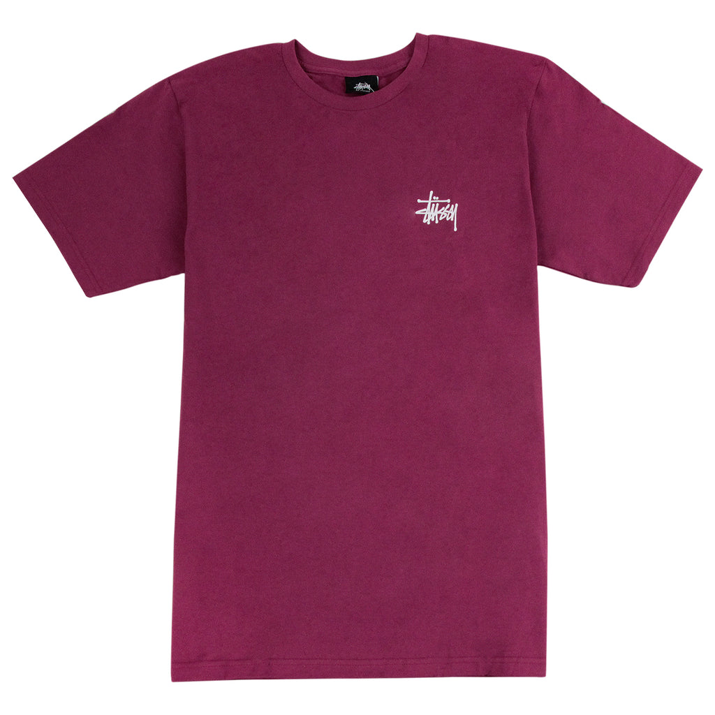 Stussy Basic Stussy T Shirt in Grape