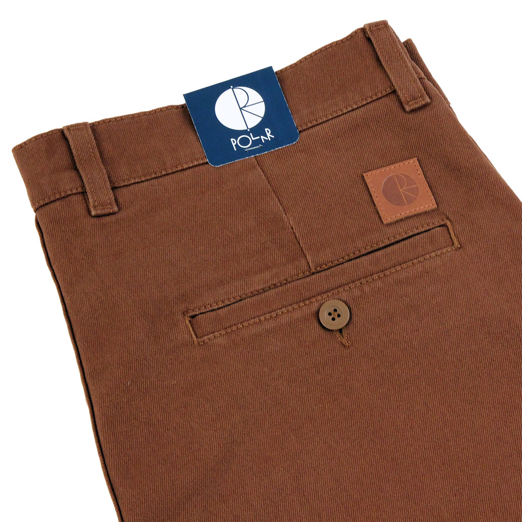Polar Skate Co Flamingo Chino in Honey Brown - Detail