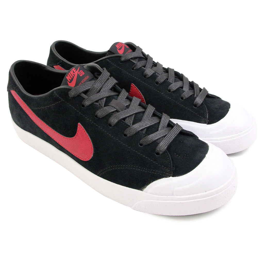Nike SB Zoom All Court CK QS Shoes in Black / Team Red / White - Pair