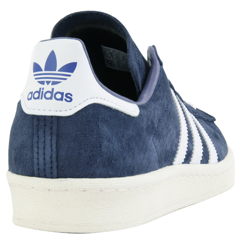 Adidas Campus 80s RYR Shoes in Collegiate Navy / Footwear White / Chalk White - Heel