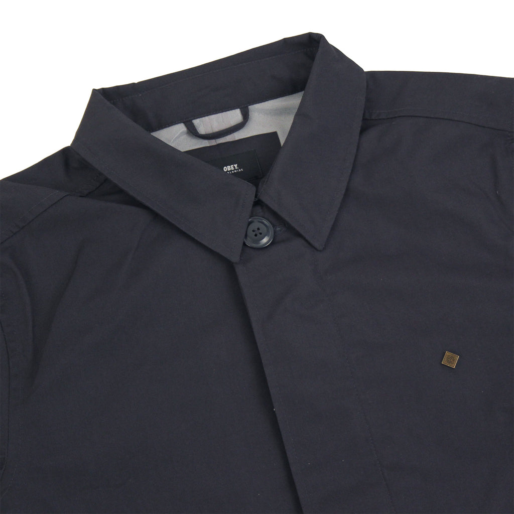 Obey Clothing Gillman Jacket in Work Navy - Detail