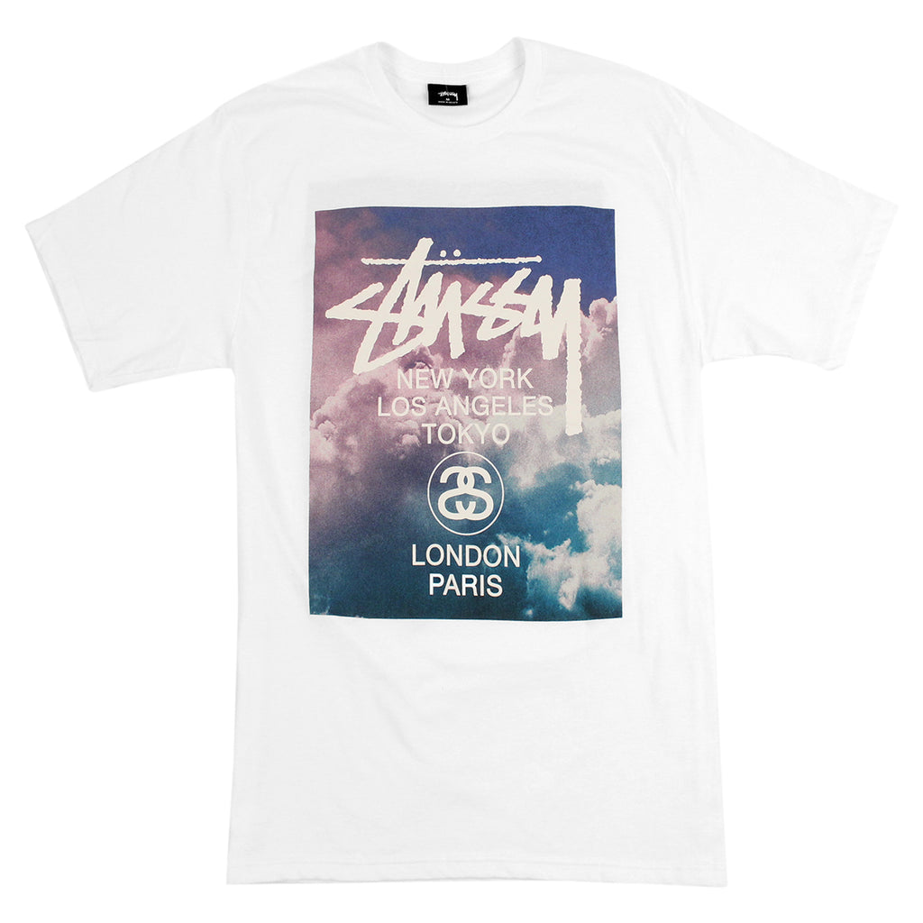 Stussy WT Clouds T Shirt in White