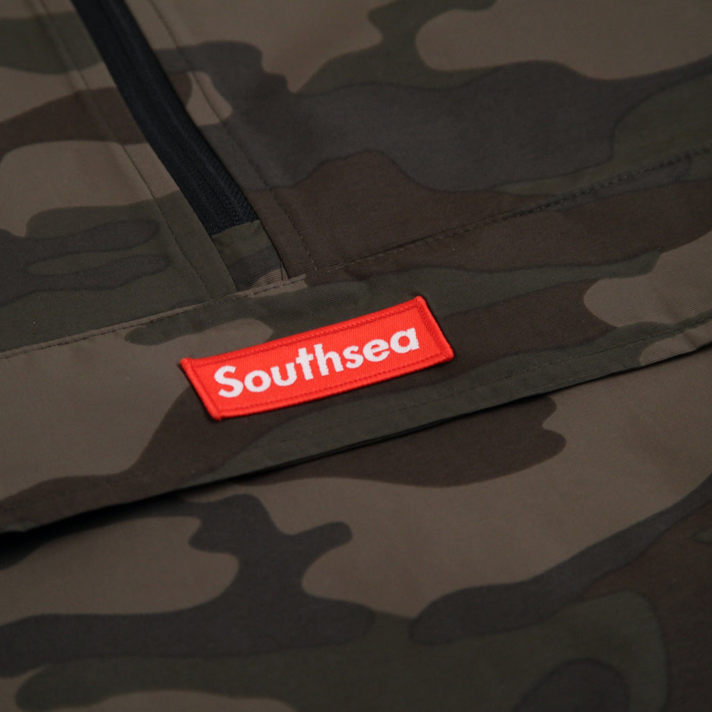 "Bored of Southsea ""Southsea"" Windbreaker Anorak Jacket in Camo - Patch"