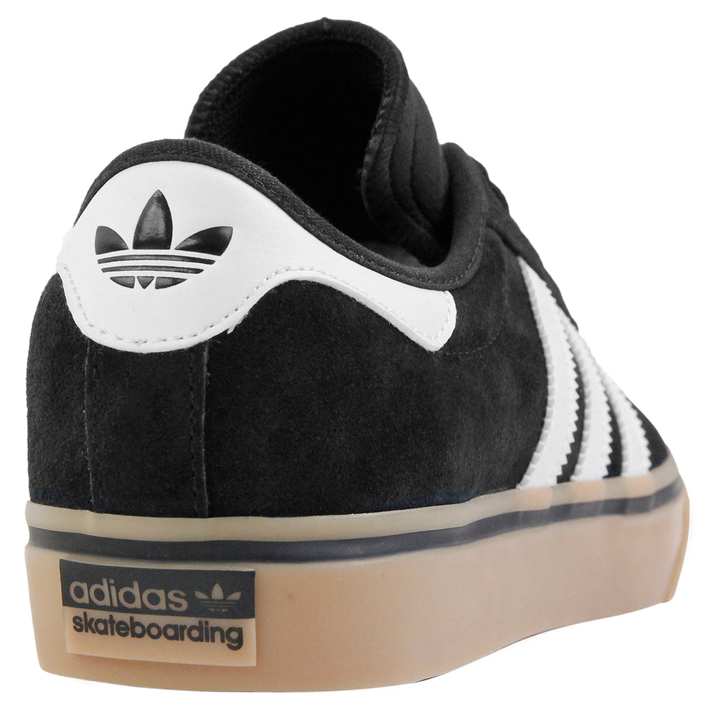 Adidas Skateboarding Adi Ease Premier Shoes in Core Black / FTW White / Gum - Heel