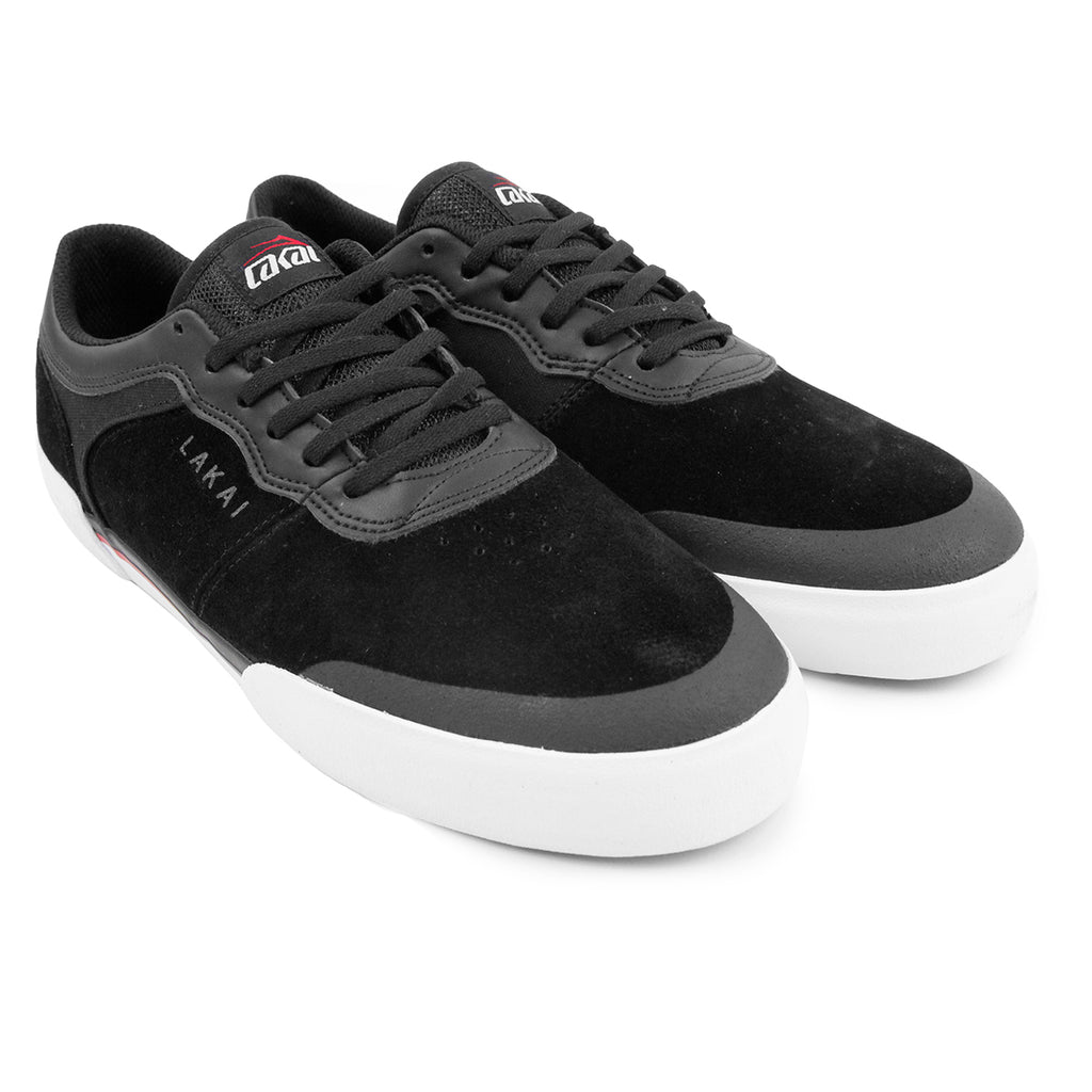Lakai Staple Shoes in Black Suede - Paired