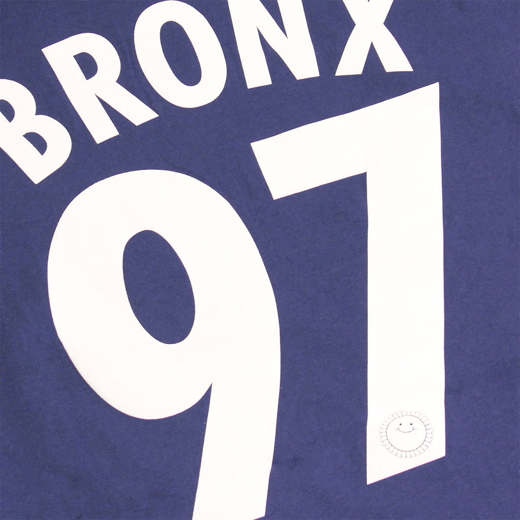 Southsea Bronx Strong Island Football T Shirt in Navy / White  - Back Print