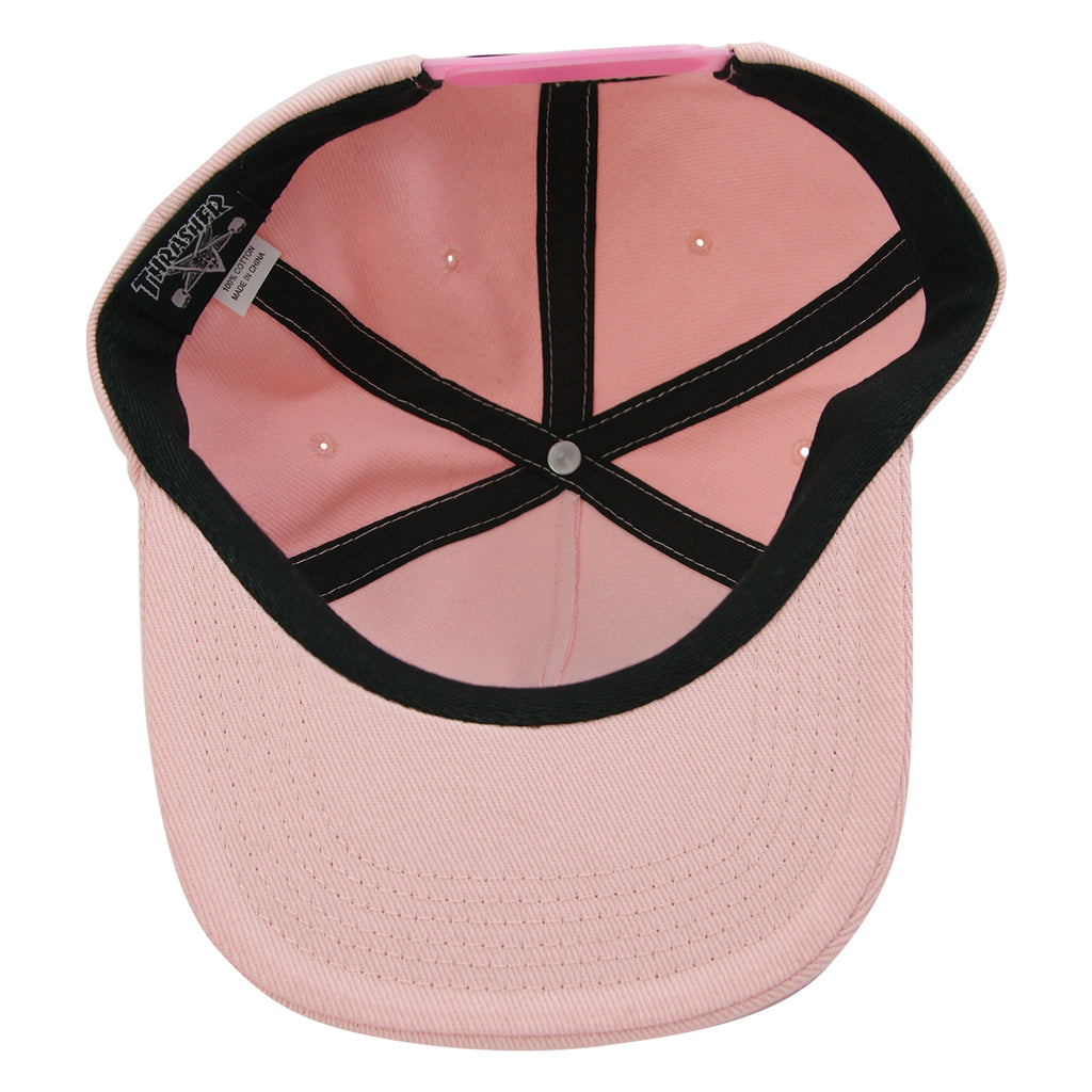Thrasher Oval Snapback Cap in Pink - Inside