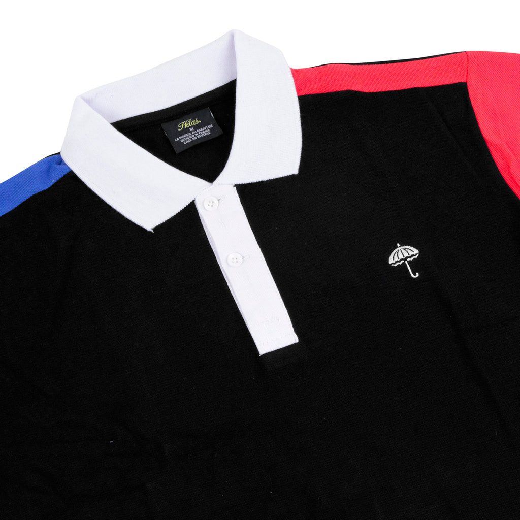 Helas Quatro Inferno Polo Shirt in Black / Navy / Red / White - Detail