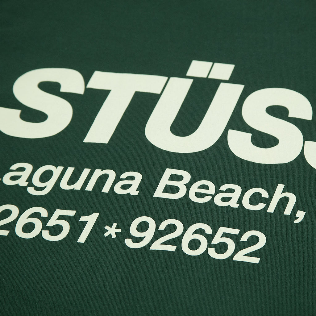 Stussy Surf & Sport T Shirt in Pine - Back Print