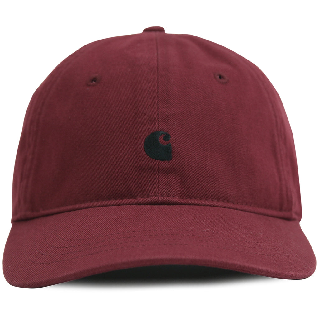 Carhartt Madison Logo Cap in Mulberry / Black - Front
