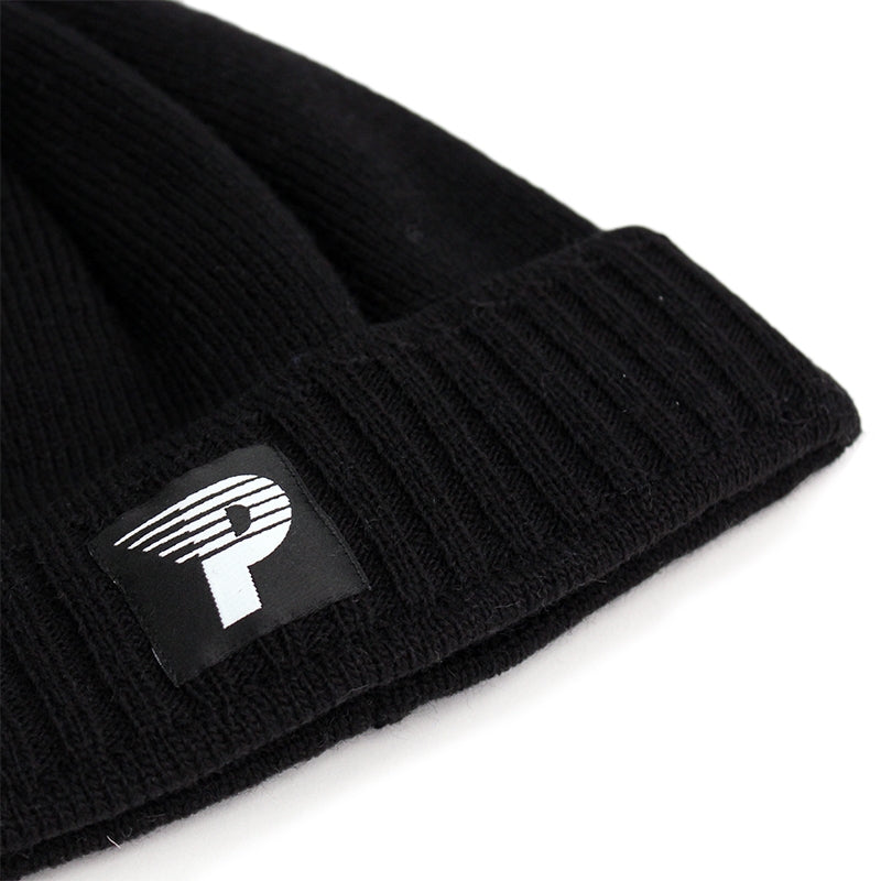 Polar Skate Co Pom Pom Beanie in Black - Detail