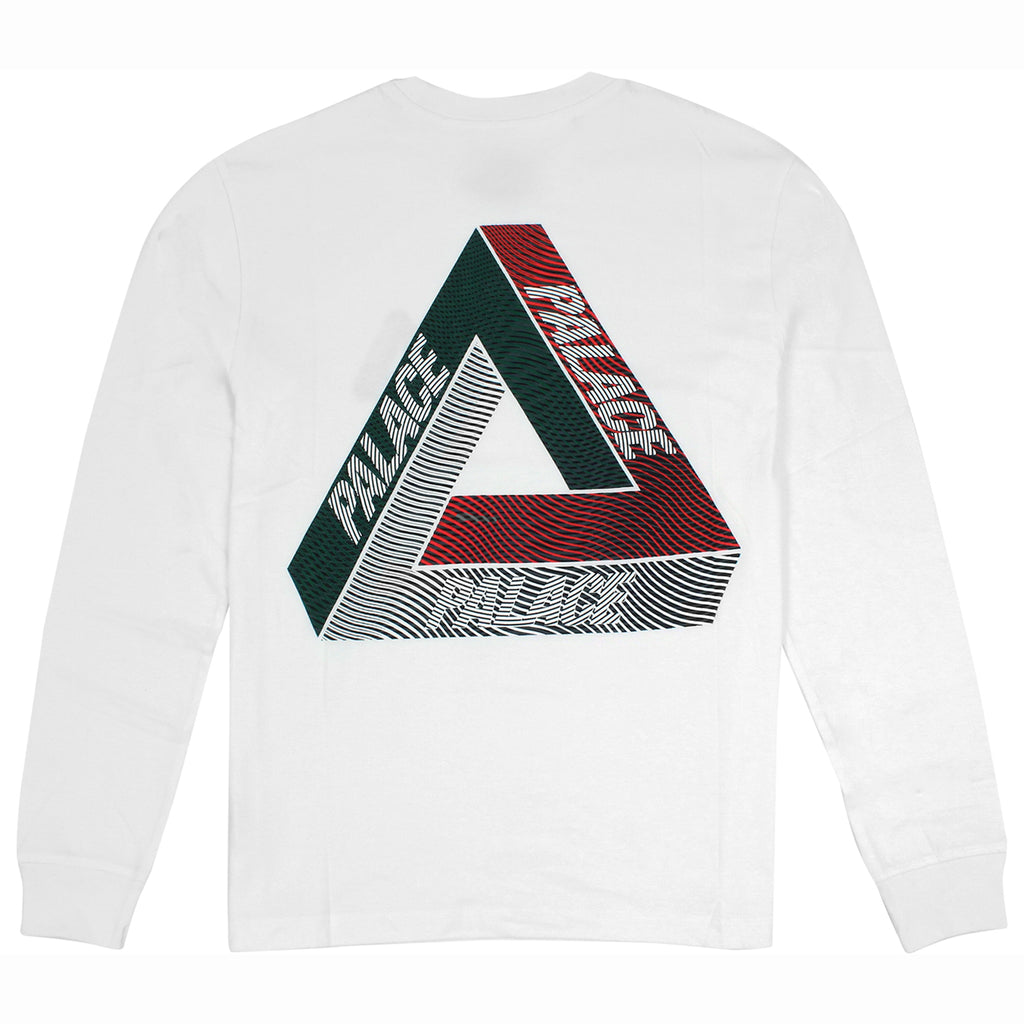 Palace Drury Italia L/S T Shirt in White