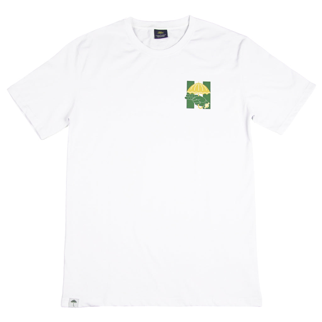 Helas Silent H Gun T Shirt in White / Green / Yellow