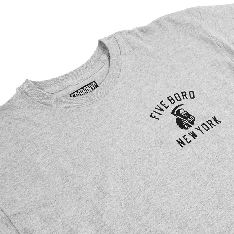 5BORO 5B REAPER II T SHIRT GREY HEATHER - Detail