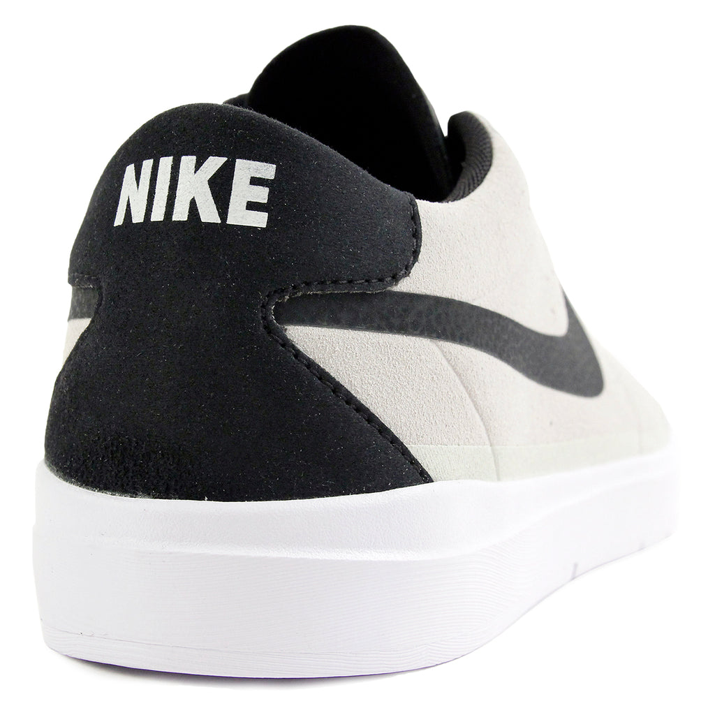 Nike SB Bruin Hyperfeel Shoes in Summit White / Black - White - Heel