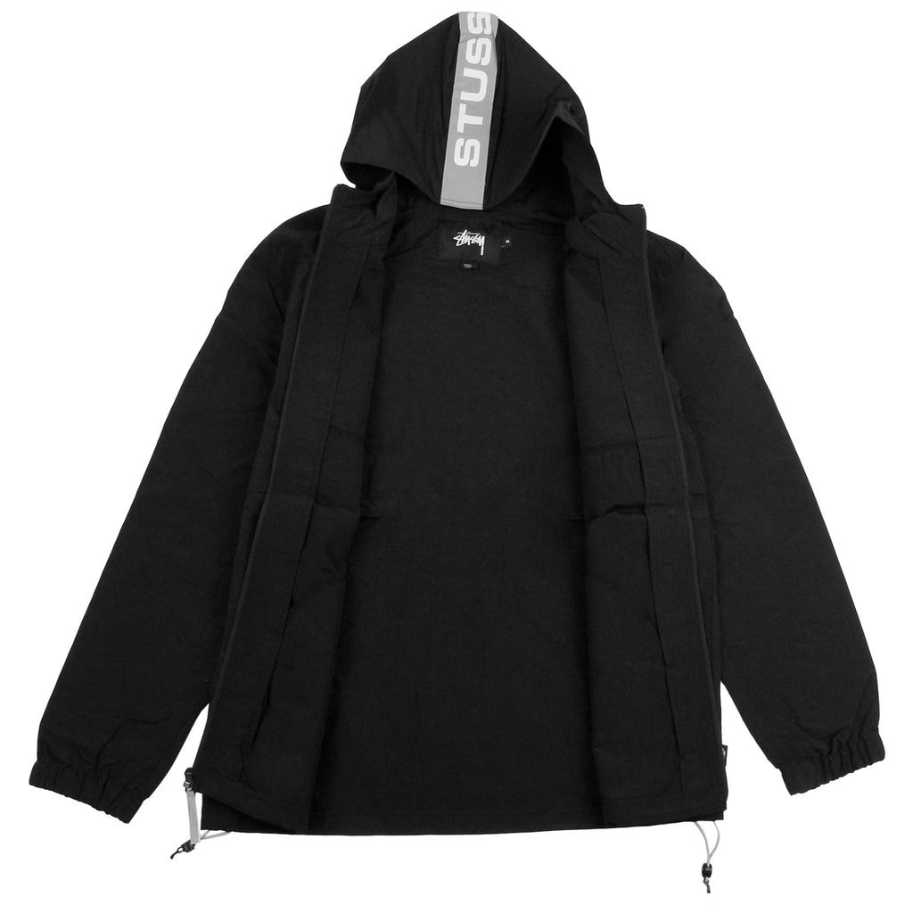 Stussy Light Nylon Full Zip Jacket in Black - Open