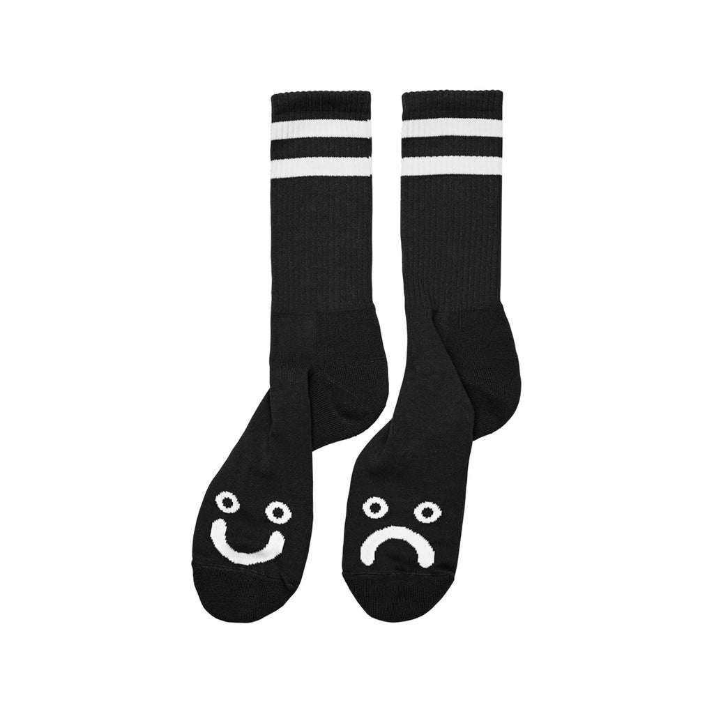 Polar Skate Co Happy Sad Socks in Black