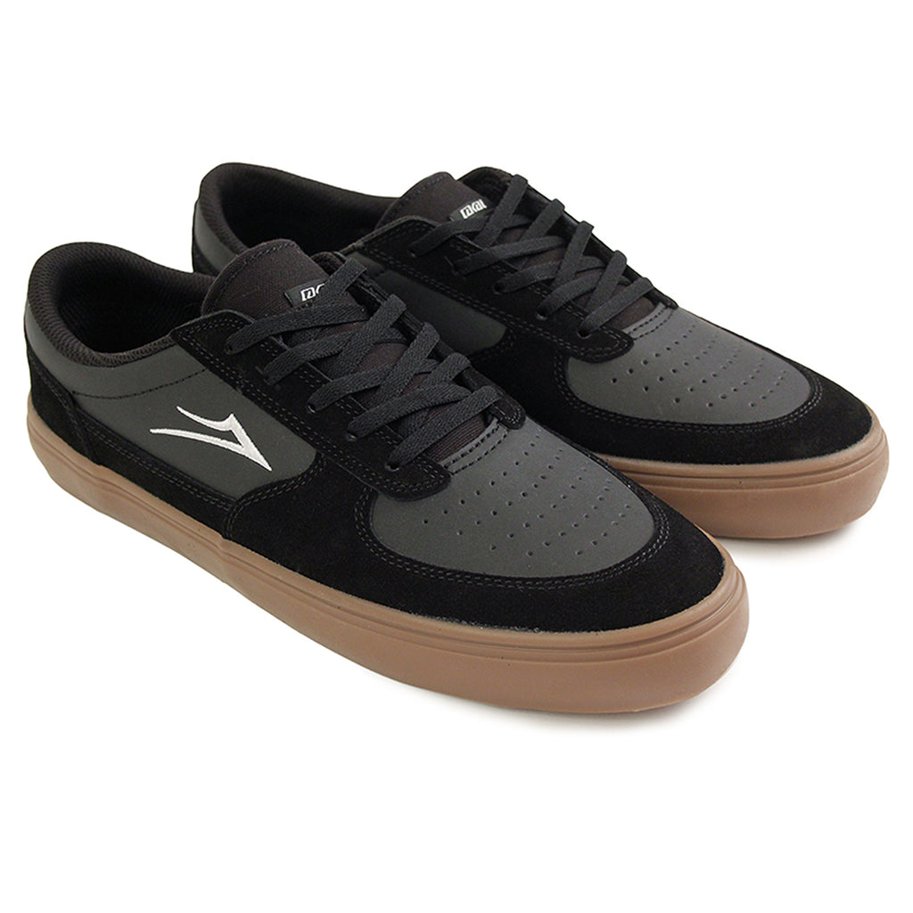 Lakai Parker Shoe in Black/Gum - Pair