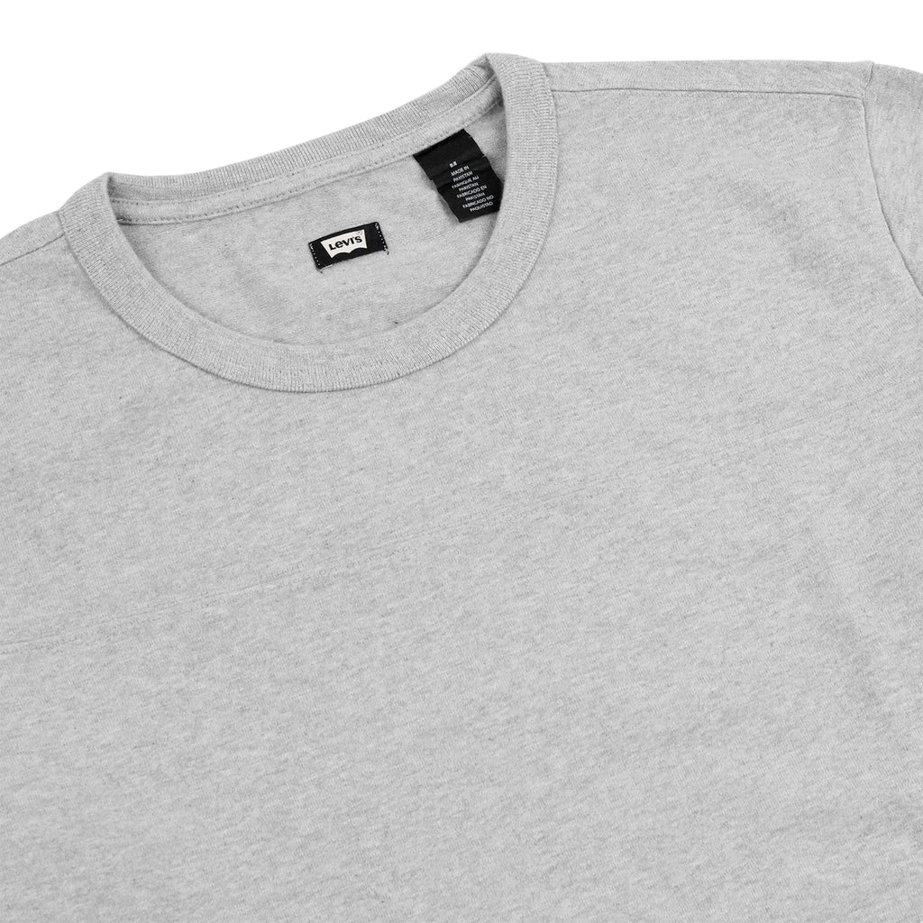 Levi's Skateboarding Collection L/S Football Shirt in Rollerskate Grey Heather - Detail