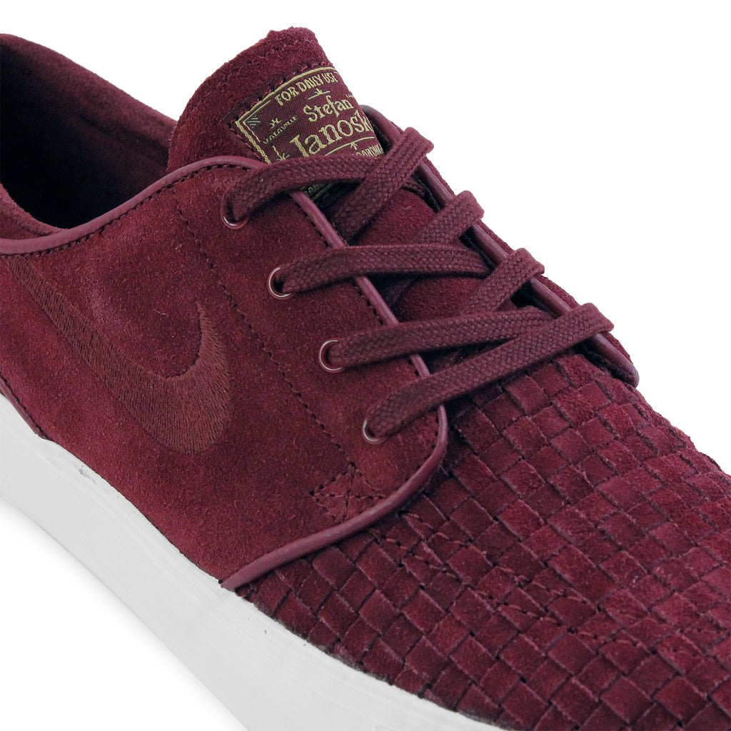 Nike SB Stefan Janoski Elite Shoes in Night Maroon / Night Maroon-Ivory-Metallic Gold - Laces