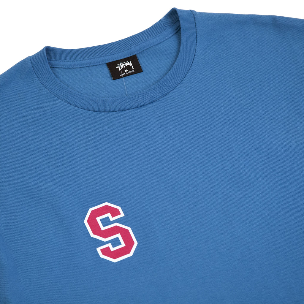 Stussy College Arc T Shirt in Ocean - Detail