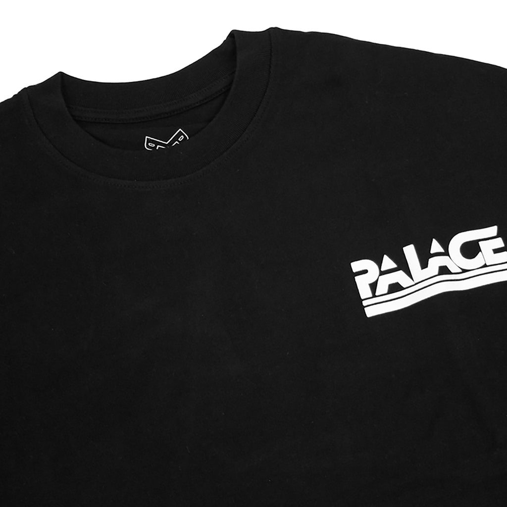 Palace Lightweight Crew Sweatshirt in Black - Front detail