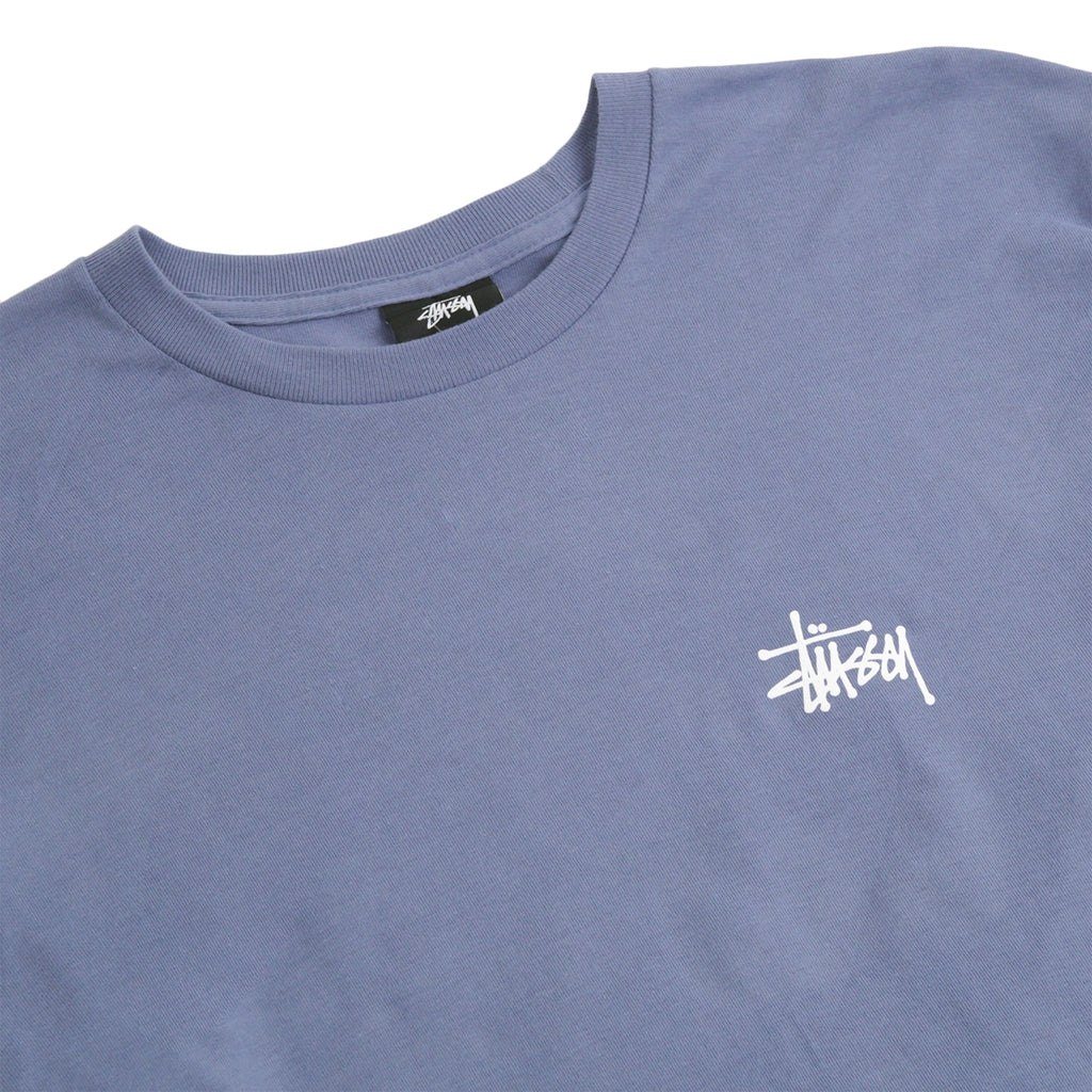 Stussy Basic Stussy L/S T Shirt in Steel - Detail