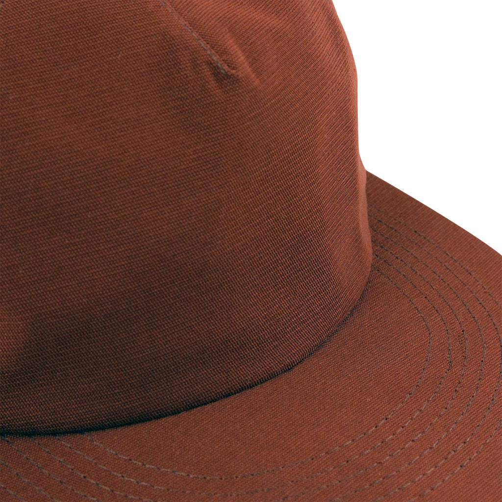 Polar Skate Co Plain Cap in Rust - Detail