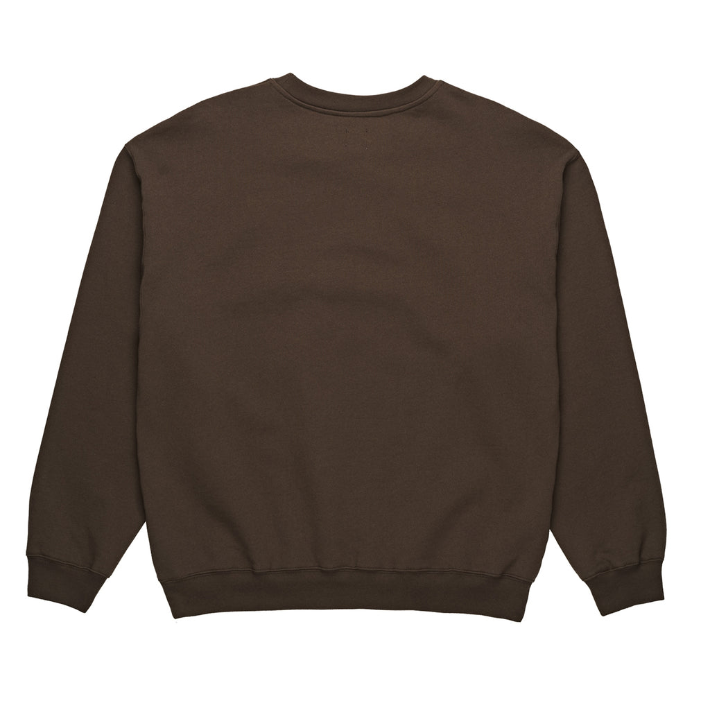 Polar Skate Co Signature Crewneck in Brown - Back