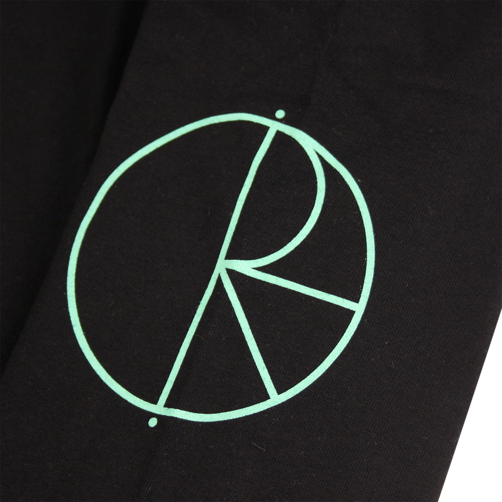Polar Skate Co Racing L/S T Shirt - Black / Mint / White - Print