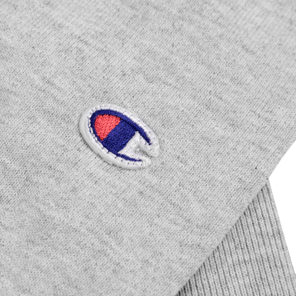 Champion Hooded Sweatshirt in Oxford Grey - Patch