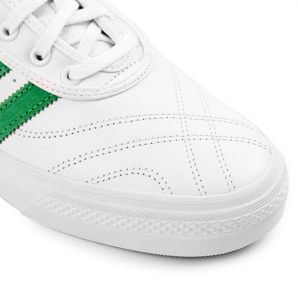 "Adidas Skateboarding Adi Ease Premiere ""Away Days"" Shoes in White / Lime / Gum - Toe"