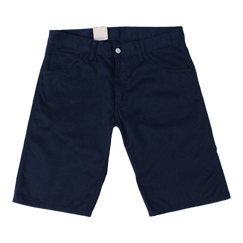 Carhartt Skill Short in Duke Blue Rinsed - Legs