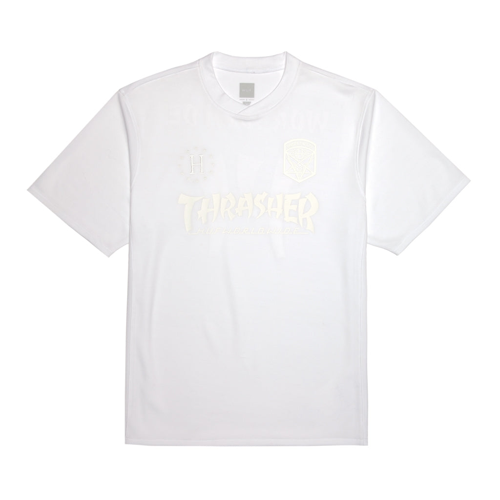 HUF x Thrasher Asia Tour Soccer Jersey 2.0 in White