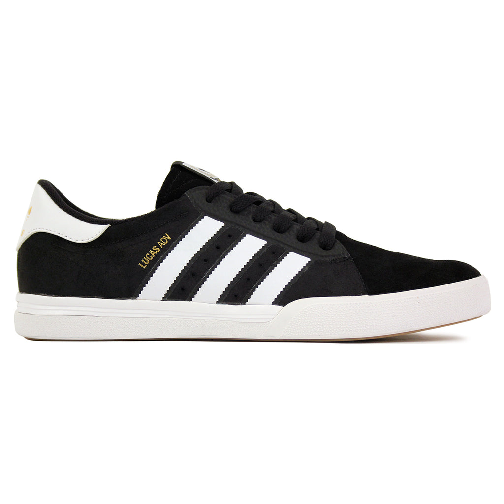 Adidas Skateboarding Lucas ADV Shoes in Core Black/FTW White/Gold Metallic