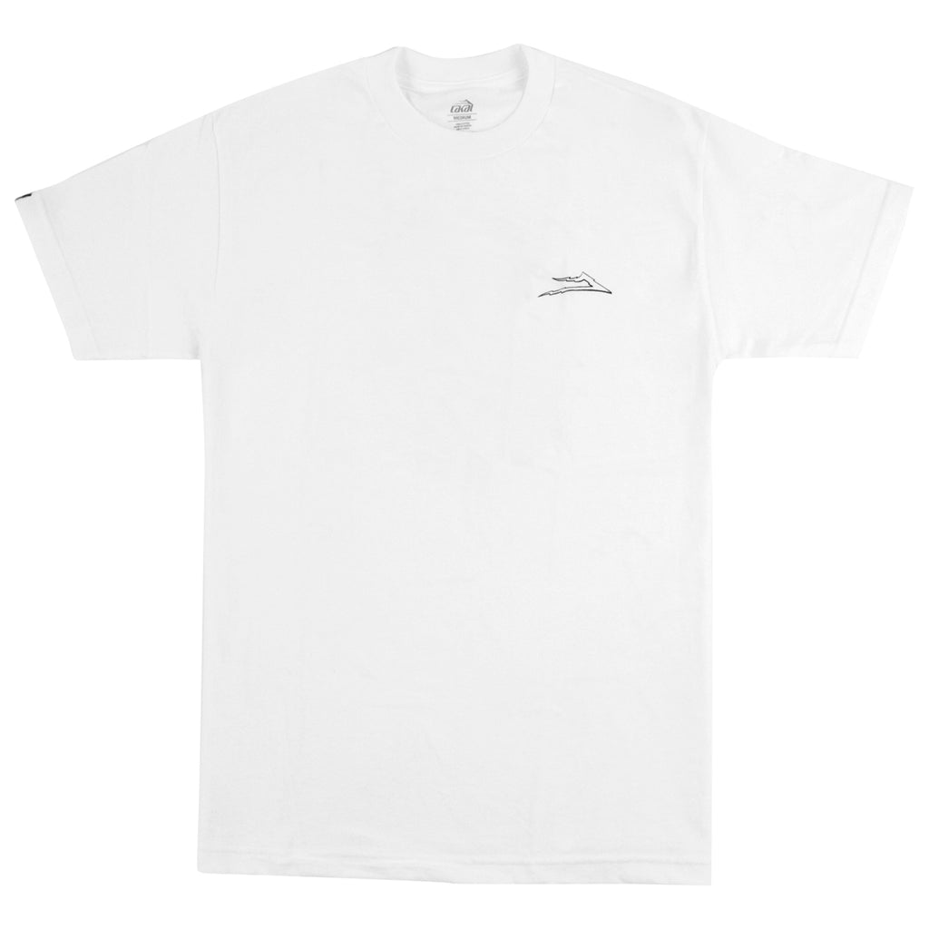 Lakai Zeus T Shirt in White - Front