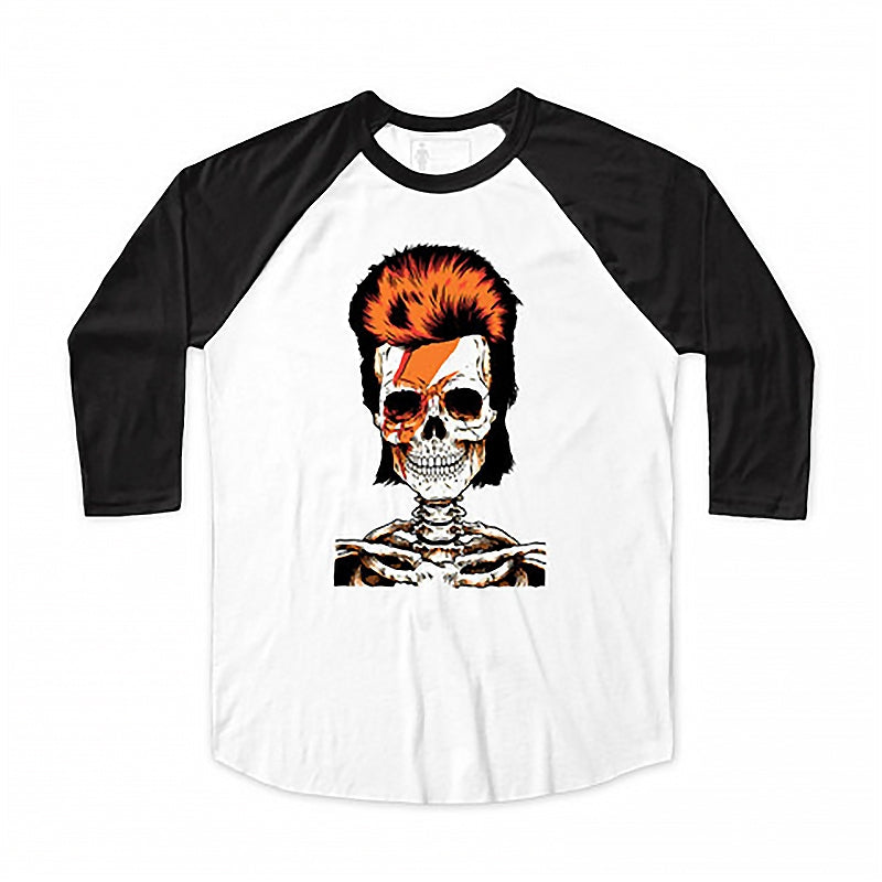 Girl Skateboards Skull Of Fame Eric Koston Raglan in Black / White