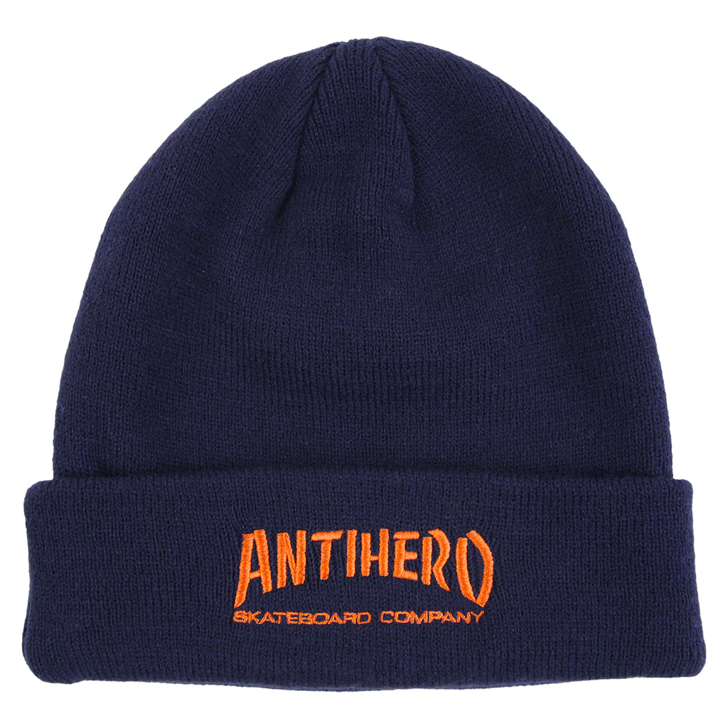 Anti Hero Skateboards Skate Co Beanie in Navy
