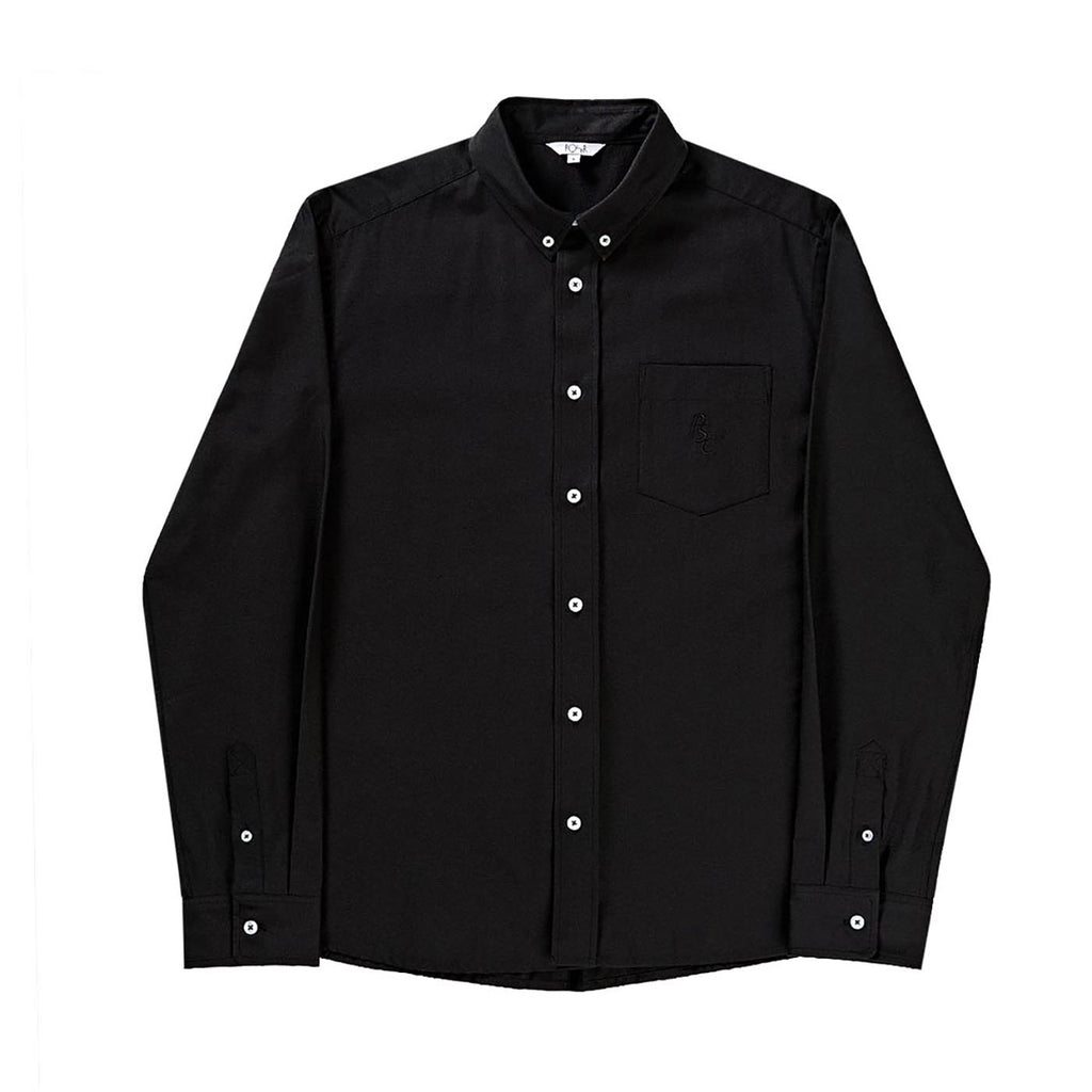 Polar Skate Co PSC Long Sleeve Oxford Shirt in Black