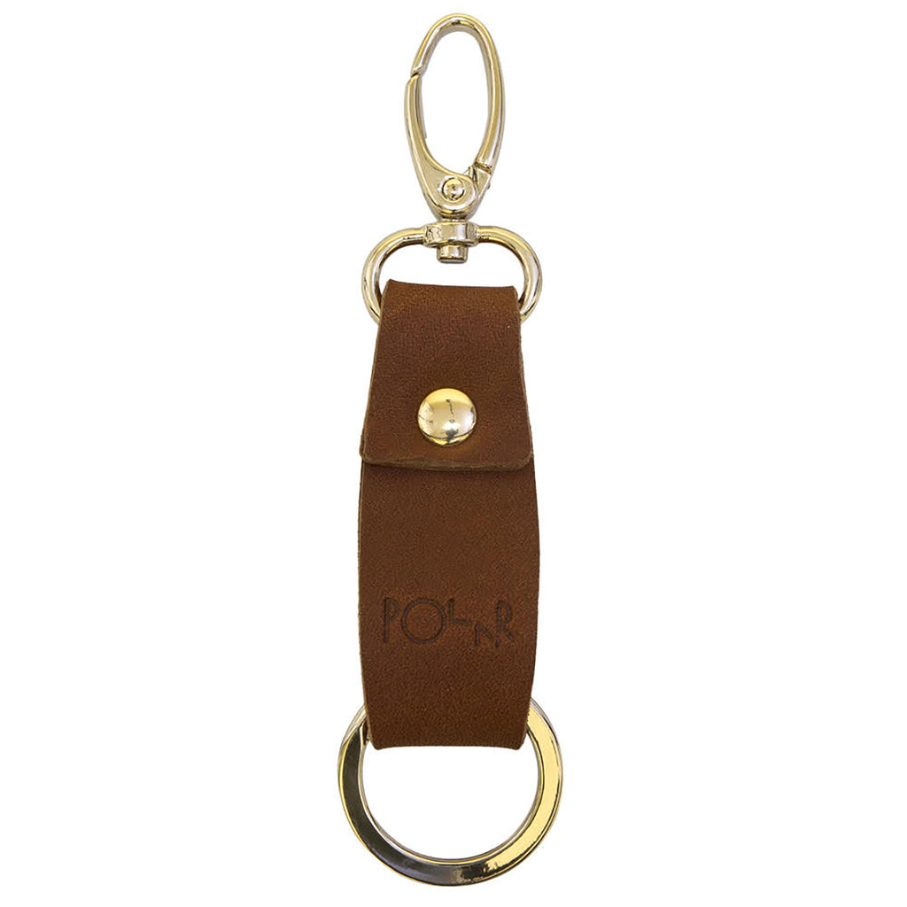 Polar Skate Co No Comply Key Chain in Brown - Back