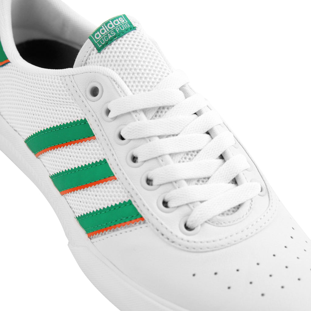 Adidas Lucas Premiere ADV Shoes in White / Green / White - Laces