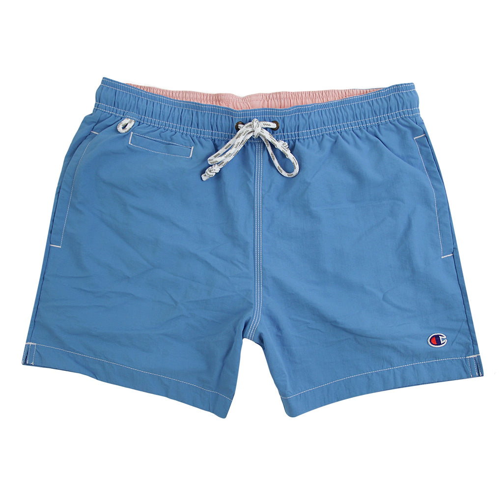 Champion Reverse Weave Beach Short in Light Blue / Light Pink