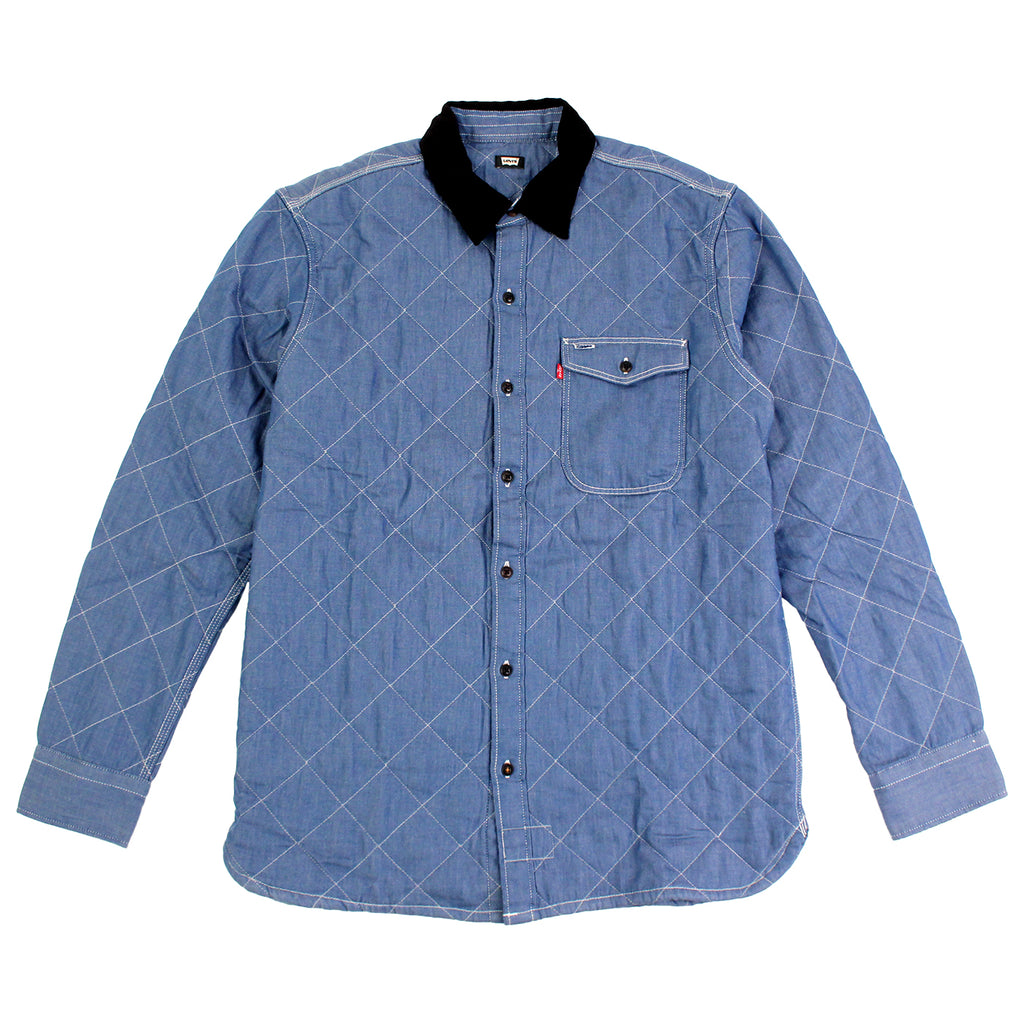Levi's Skateboarding Collection Quilted Mason 2 Shirt in Chambray