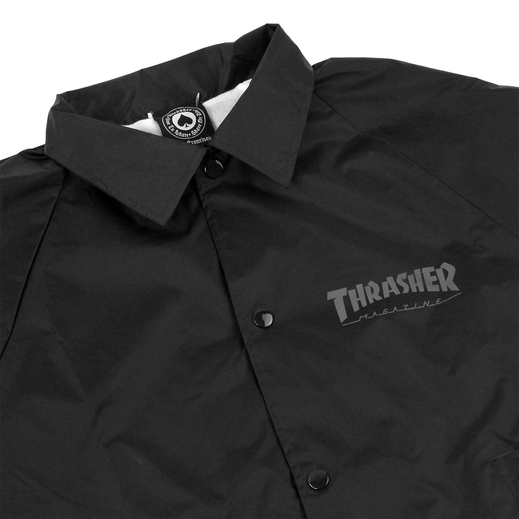 Thrasher Skate And Destroy Coaches Jacket in Black - Detail