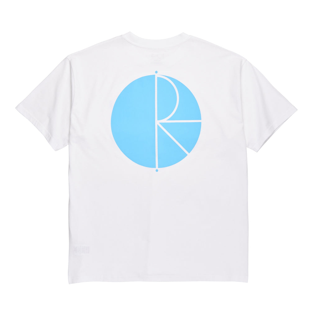 Polar Skate Co Fill Logo T Shirt in White / Pool Blue - Back